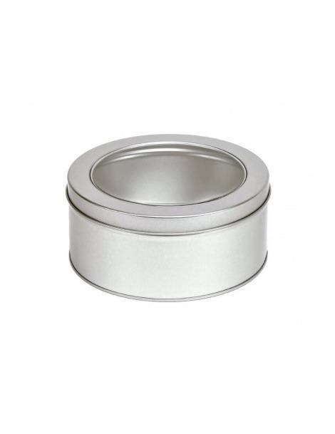 Boîte ronde avec Couvercle et d'Affichage - 100grs