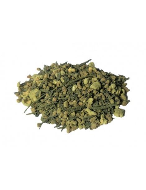Le thé genmaicha thé avec du Matcha Bio