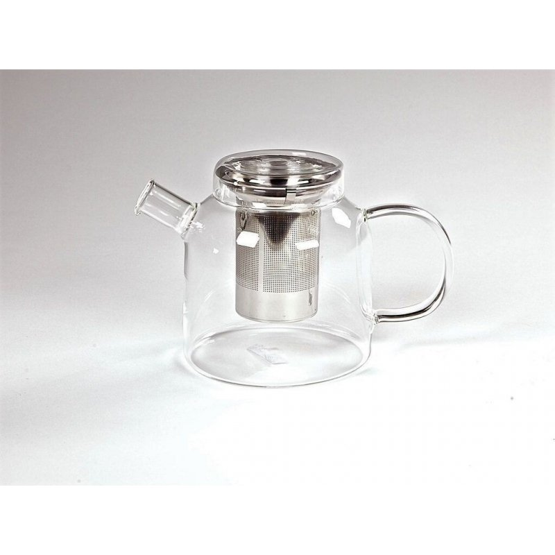 Teapot Glass with Infuser Stainless steel Wide Globe - 1200ml
