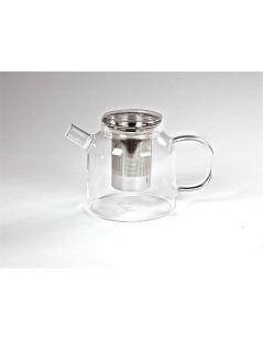 Teekanne Glas mit Infuser Edelstahl Weiten Welt - 1200ml