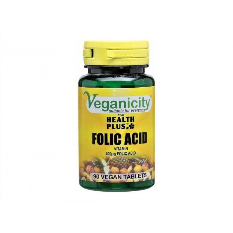 Vegan Folic Acid with 90 Caps - Veganicity