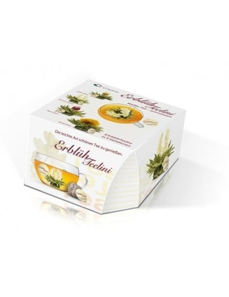 Casella di Tealini con 8 Fiori di Tè