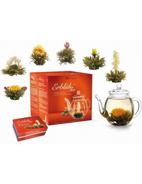 Conjunto - Bule + 6 Flores de Chá