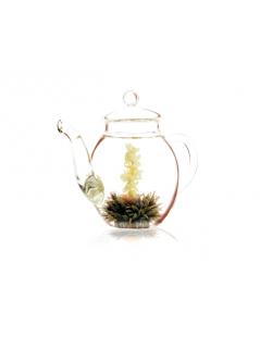 Conjunto Bule com 6 Flores de Chá