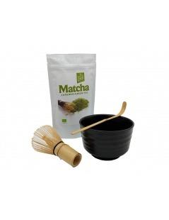 Japanisches Matcha-Set 4-teilig - Schwarz