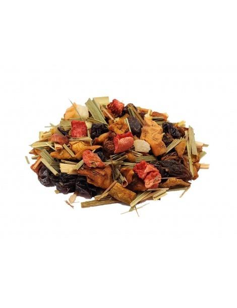 Chá de Frutas Morango e Lima