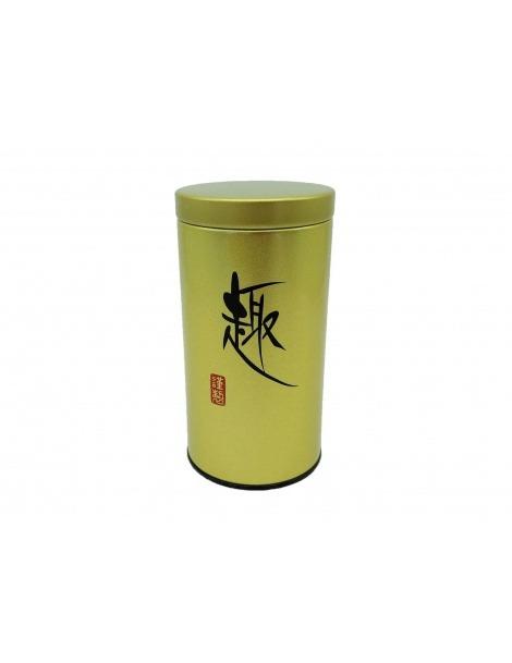 Contenitore per Tè Giapponese d'Oro con coperchio