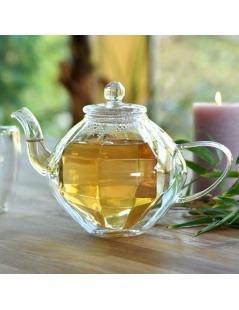 Double Wall Glass Teapot - Diamond Design 800ml