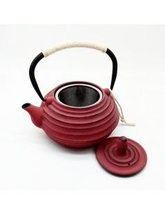 """Iron Cast Teapot Red """"Changbai Velvet"""" - 700ml"""