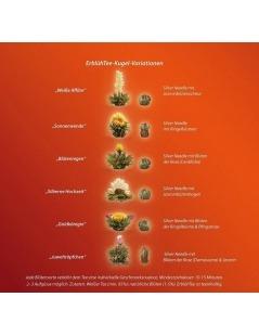 Caja de Madera con 12 Flores de Té