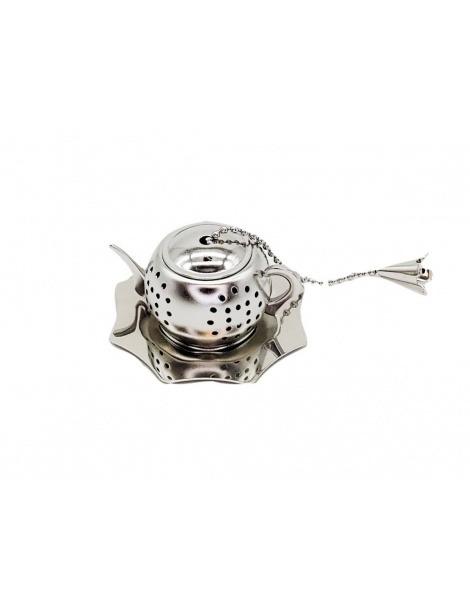 Infuseur à Thé en acier Inoxydable Pot avec Plat