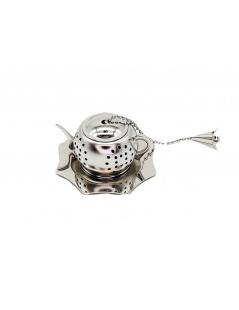 Infuser Tee Edelstahl - Topf mit Teller