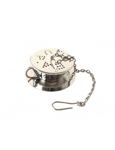 Infusor para Chá em Inox - Chávena com Prato