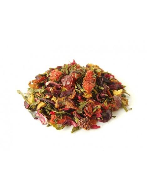 Thé vert avec des Baies de Goji et d'Açaï